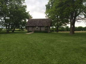 The rebuilt Little House in the Big Woods (the Big Woods cleared a long time ago), outside of Pepin, WI. (Katherine Hart, 2014)