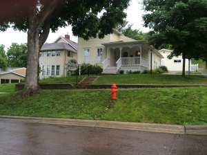 Betsy's house with the original maple tree to the left, Mankato, MN. (Katherine Hart, 2014)