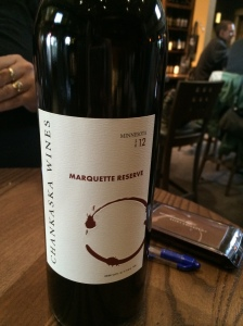Delicious! The Marquette Reserve from Chankaska Wines, north of Mankato, MN. (Katherine Hart, 2014)