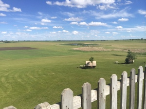 Prairie view from the observation deck of the homestead site, De Smet, SD. (Katherine Hart, 2014)