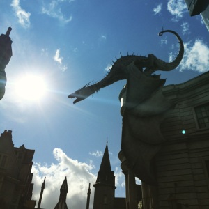Fire-breathing dragon atop Gringotts. (Katherine Hart, 2015)