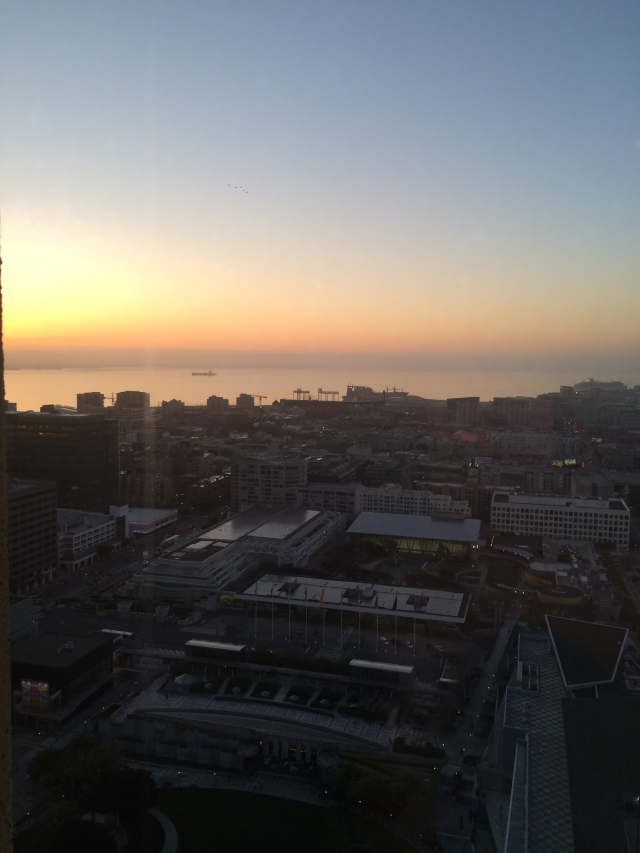 Good morning, SFO! View from our hotel room. (Katherine Hart, 2015)