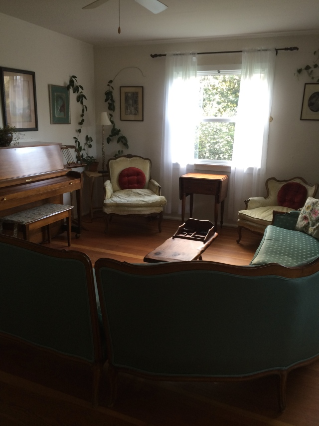 Living room in our cottage (Katherine Hart, 2015)