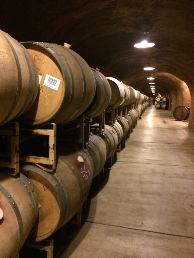 Barrels in the Benziger caves
