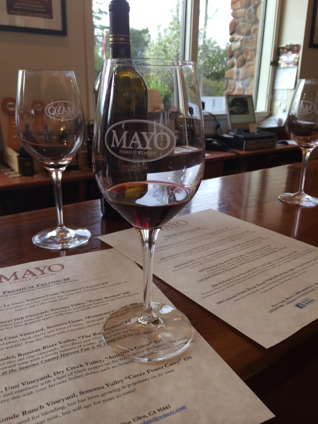 In the Mayo tasting room (Katherine Hart, 2015)