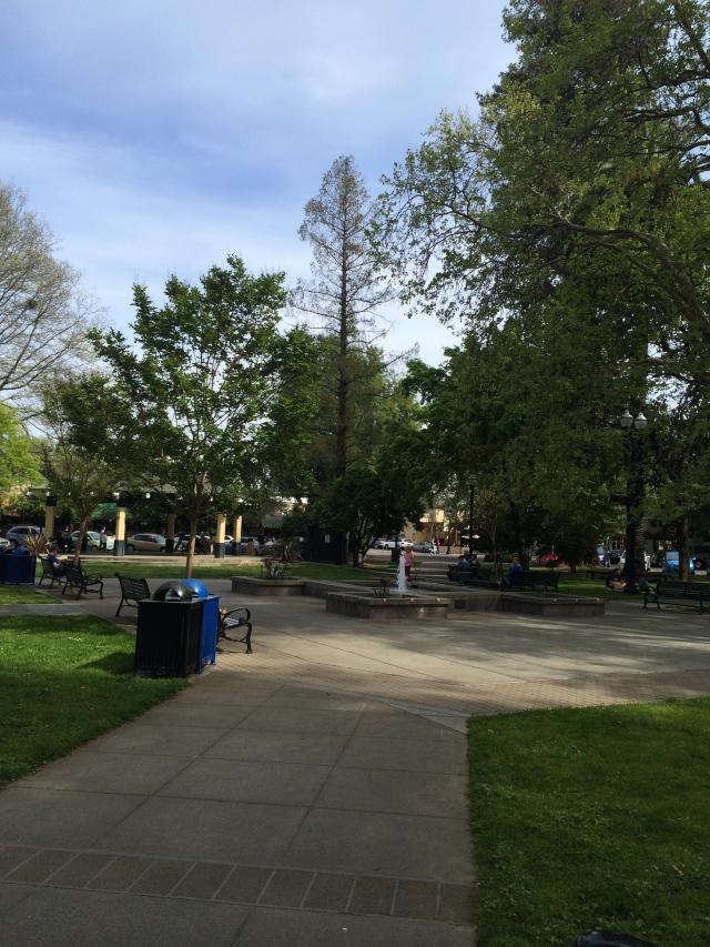 Healdsburg's central plaza (Katherine Hart, 2015)