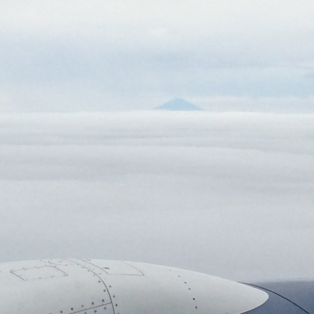 View of Mt. Fuji approaching Narita Airport (Katherine Hart, 2015)