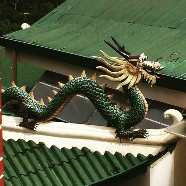 Dragon Sculpture at Taoist Temple, Cebu City (Katherine Hart, 2015)